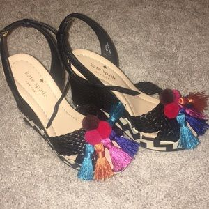 Adorable Kate Spade Wedges with Tassels